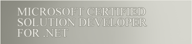 Microsoft Certified Solution Developer for .Net